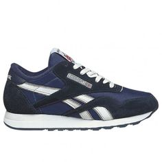 3a56e148e6e7 Reebok CL Nylon Mens Running Shoe 39749 Team Navy- Platinum Mens Running