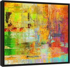 """Quadro Abstrato """"Outono Quente""""  de Carlos Alber — Reprodução em alta definição (gicleé) com pigmento mineral sobre canvas premium e acabamento texturizado."""
