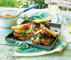 Satay tofu burger: Tofu is a great vehicle for additional flavour and takes a strong marinade well. A satisfying burger for all. Bento Recipes, Burger Recipes, Vegetarian Recipes, Tofu Burger, Sweet Chilli Sauce, Meat Lovers, Burgers, Food Inspiration, Hamburgers