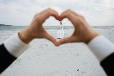 Cute photo idea for a beach shot.