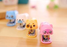 Mini office stapler Kids Stapler Stationery Stapler by CaribouMilk Staplers, Mini Office, Cat Store, Making Mistakes, Arts And Crafts Supplies, School Supplies, Cute Animals, Stationery, Pink Yellow