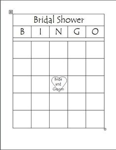 Get these darling and FREE bridal shower bingo cards! | Card ...