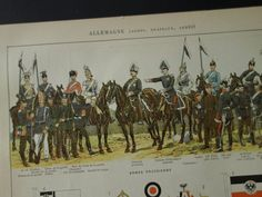 1902 old pictures of German pre WWI uniforms  by DecorativePrints