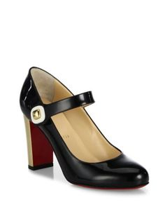 Christian Louboutin - Bibaba Patent Leather Mary Jane Pumps