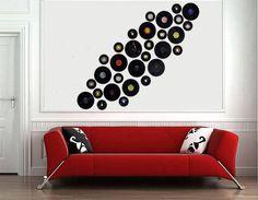 Ideas para decorar con discos de vinilo - Hogar y estilo