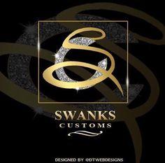 Swanks Customs Logo designed at DT Webdesigns