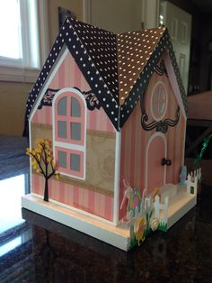 Easter House using the Light Keepers Quarters from SVG cuts. #svgcuts