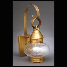 Northeast Lantern Dark Brass Small Onion Colonial Wall Mount Lantern With Clear Seedy Glass 2021 Db Med Csg Outdoor Wall Lantern, Outdoor Wall Sconce, Hanging Lanterns, Outdoor Wall Lighting, Exterior Lighting, Barn Lighting, Wall Fixtures, Light Fixtures, Colonial