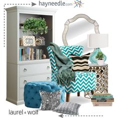 Hayneedle.com by tanyaf1 on Polyvore featuring polyvore, interior, interiors, interior design, home, home decor, interior decorating, MCM, Surya and Kennebunk Home