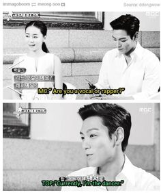 """ ***FLIPS TABLE*** "" kekeke XD yes, you are! XD  TOP the dancer of Big Bang"