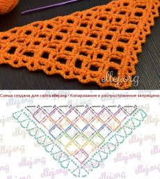 ellej.org Crochet Wool, Crochet Shawl, Crochet Stitches, Crochet Patterns, Black Crochet Dress, Summer Scarves, Crochet Fashion, Baby Knitting, Lana