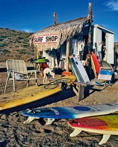 Board shack in Mexico