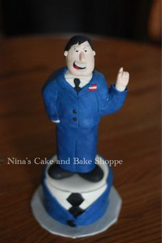 American Dad birthday cake. Suit and tie cake {Nina's cake and Bake Shoppe} on Facebook and Instagram!!