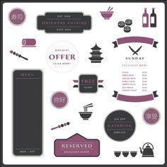 Elegant vector package for Asian restaurant. #restaurantbranding #restaurantgraphics #typography