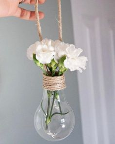 "132 Likes, 3 Comments - Rohina Anand Khira (@aa.living) on Instagram: ""Yes to fresh blooms inside empty light bulbs.  #DIYideas #recycle #trythisathome #springdecor"""