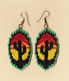 Beaded Desert Cactus Earrings by NativeWorks on Etsy, $21.00