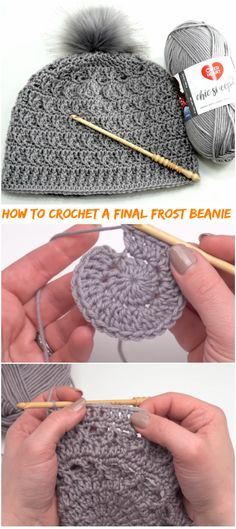 Terrific Cost-Free crochet beanie tutorial Concepts How To Crochet A Final Frost Beanie Tutorial – Crochetopedia Crochet Crafts, Crochet Projects, Free Crochet, Crochet Baby, Knit Crochet, Easy Crochet, Tutorial Crochet, Moogly Crochet, Crochet Beanie Hat
