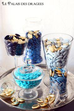 Dragées bleu couleur tendance http://www.drageeparadise.fr/blog/bleu-tendance-mariage-2014/