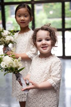 I LOVE little girls with bouquets and simple dresses and hair. Photography By / http://karenhill.com,Planning By / http://angweddingsandevents.com