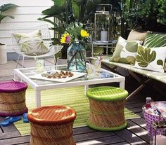 Planning a garden party but don't want to buy new furniture? Try repurposing indoor furniture! Check out these 14 helpful tips to outdoor entertaining.