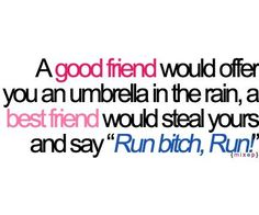 Good gracious, I have a lot of best friends and I must be a best friend to a lot of people too! :)