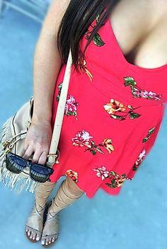 Forever21 Red Floral Sundress
