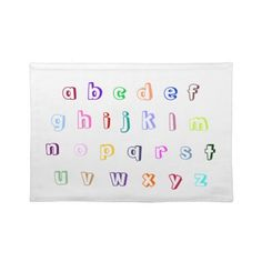 Colorful Coloring Alphabet Placemats, lower case letters