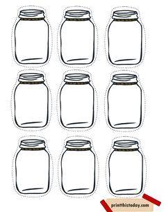 Free Printable Mason Jar Tags for Homemade products
