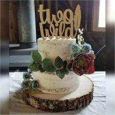 Naked cake. Birthday cake. Wild one. Two wild.