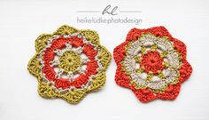 Quick Doilies from left-over yarn