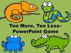 This reptile/amphibian themed PowerPoint game reviews the concept of adding/subtracting tens up to 99.