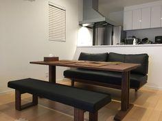 Black Interiors, Muji, Dining Bench, Condo, House Plans, Furniture Design, Room, Home Decor, Craft