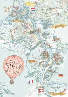 Love this illustrated overview of cruising the Rhine River. Commissioned by Viking River Cruises - Illustrated Maps Rhine River Cruise, River Cruises In Europe, European River Cruises, Travel Maps, Travel Posters, Travel Info, Travel Europe, Vikings, Iphone Android