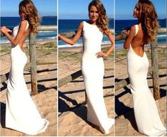 Sexy White Loog Dress