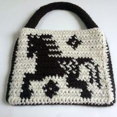 Crochet Appaloosa Horse Purse Child's Purse by SoftsideCrochet