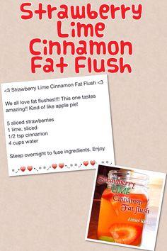 Strawberry Lime Cinnamon Fat Flush