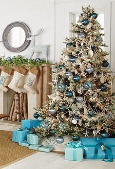 interior design ocean themed christmas decorations view ocean themed