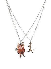 Disney The Lion King Timon & Pumbaa BFF Necklace 2 Pack from Hot Topic for $14.50