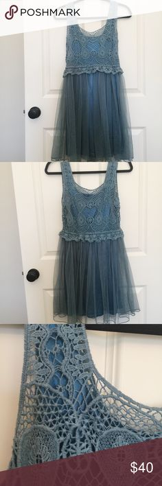 NWOT Crochet & Silk Dress ✨NEVER WORN✨ Dresses