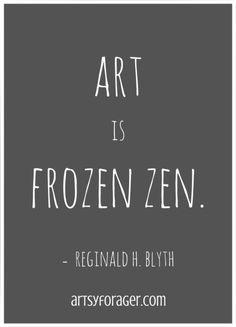 art is frozen zen