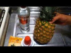 """como hacer gelatina de piña con vodka """"piña borracha! - YouTube"""