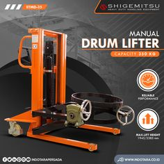 Shigemitsu Drum Lifter Kapasitas 350 Kg #indotara #ptindotarapersada #indotarapersada #ptindotara #shigemitsu #handpallet #handstacker #palletstacker #stackermanual #pallet #drumstacker #drumlifter #scissorlift #handforklift #pallettruck #tablelifter #handpalletmanual #manualpallettruck #materialhandling #heavyduty #handlingequipment #warehouseequipment #drumlifterjakarta #drumlifterbandung #drumliftersurabaya #drumliftermedan #drumliftersemarang Warehouse Equipment, Drums, Drum Sets, Drum, Drum Kit