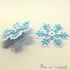 Convite Frozen - Floco de Neve …