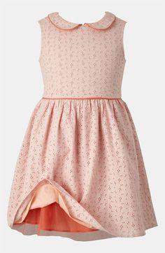**eyelet dress w/colorful lining & piping**   Mini Boden Eyelet Dress (Little Girls & Big Girls)