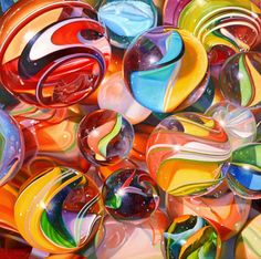 """Marbles #12   Pat Bailey   40"""" x 40""""   SOLD"""