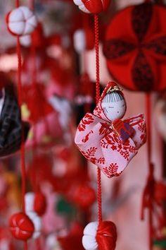 Japanese tsurushi Hina dolls