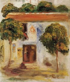 Pierre Auguste Renoir (1841-1919) - Trees in front of the House - 1905 - Private Collection