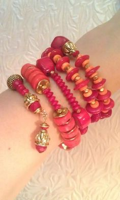 Rebekah Graves via Karen Starbuck to Jewelry.  Multi Strand Charm