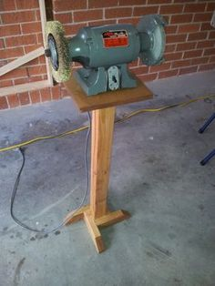 Ok, so for those who missed it, the week before last I posted a single picture of a bench grinder stand I'd built and promised you the story of the build the next day. This hasn't happened, as life...