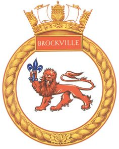 HMCS Brockville was a Bangor-class minesweeper that served with the Royal Canadian Navy during the Second World War. Royal Canadian Navy, Royal Navy, Naval History, Emblem, Coal Mining, Submarines, Armed Forces, World War Two, Warfare